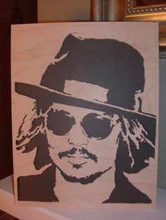 Scroll Saw Woodwork  Johnny Depp by DorvalDesigns on Etsy, $75.00 FOR HANNAH LEIGH