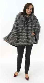 Luxurious and Oh so Soft Natural Silver Fox and Cashmere Cape