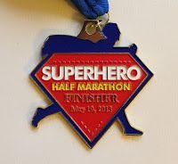 Superhero half marathon medal 2013