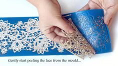 TUTORIAL: How to make perfect edible lace for cakes when you don't have Fabulace of course!