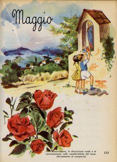 Romoli Borrani Anita, Fili d'erba. Letture per il primo ciclo, classe prima , Firenze, Vallecchi, 1958, p. 128. Illustrazioni e copertina di Gastone Rossini
