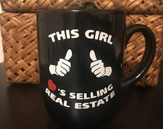 Coffee Mug, Real Estate Agent, Office Mug, Any Occassion Gift, Gift for Her, Love Selling Real Estate #ad