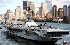 The Intrepid Museum in NY Harbor, sister ship to the USS Bennington, my Dad's ship in WWII.