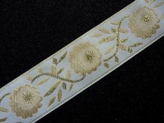 Sew on Embroidered Lace ribbon trim band Cushion edging VARIOUS sold per metre | eBay