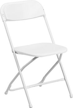 Flash Furniture Y-L-9-WH-GG HERCULES Series 800 lb. Capacity White Plastic Folding Chair, White