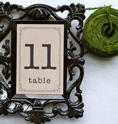 Rustic, Modern & Vintage Wedding Table Numbers