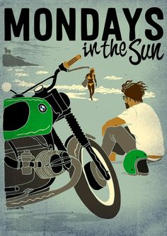 Mondays in the Sun -  Raulowsky Art  Corb Motorcycles