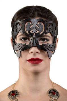 Filigree Leather Masquerade or halloween woman's black mask hand dyed. Ribbon is sewn on to mask. Masquerade Halloween Costumes, Halloween Masks, Leather Mask, Tan Leather, Natural Highlights, Black Mask, Beautiful Textures, Custom Leather, Vegetable Tanned Leather
