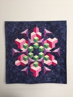 This piece of art shows the element of FORM because it has 3-D quality to it the shapes are popping out it also has many different shapes in it like cubes and triangles
