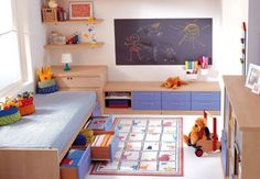 """This is how we are decorationg the two wee babes bedroom.  They are waking up Christmas morning to a """"pre-school bedroom""""!"""