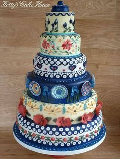 Polish pottery cake. Won a Bronze award at the Cake International in London 2016