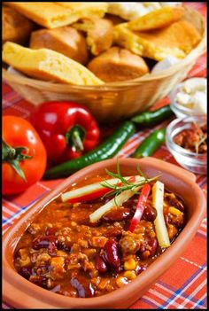 2 Bean Turkey Chili - making chili in the morning so it is ready for a late lunch or early dinner?! And it smells so good all day. This site has some of my favorite chili recipes.