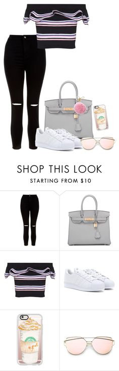 """""""City"""" by grraciie-386 on Polyvore featuring New Look, Hermès, MSGM, adidas, Casetify and Michael Kors"""