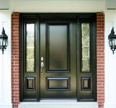 Louise Watson highlights high quality graphics of house exterior doors on Wisatakuliner.xyz to reveal ideas for house exterior doors upgrade. Home Door Design, Front Door Design, Front Door Colors, Black Front Doors, Exterior Front Doors, Front Entry, Black Exterior, Front Porch, Rustic Exterior