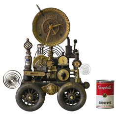 No 4687 Clock on Wheels by Roger Woods