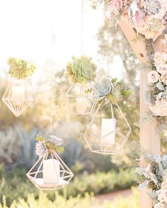 How cool are these geometric lanterns from yesterday's real wedding?  Can you believe they were DIYed by the bride and groom - so creative!  Pop over to our real wedding section on the blog to see more from Kristen & Luke's beautiful ranch wedding.  Photo by @amy_demos and @jordan_demos  #wedding #decor #diy #backdrop #uniqueideas #style #candles #bmloves #realwedding #bridalmusings