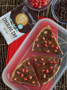 Pomegranate Chocolate Chip Pizza