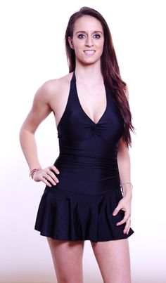 "The very cute ""Flirty"" dresskini/swimdress in black. Now 20% OFF: only $47.99!"