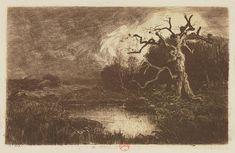 Eugene Viala - Movements of Earth #21, The Death Oak, 1913