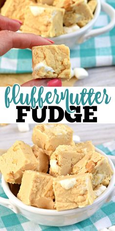 Fluffernutter Fudge is as fun to eat as it is to say! A rich peanut butter fudge tastes even better when you combine it with marshmallow cream and crunchy nuts. Salted Caramel Fudge, Peanut Butter Fudge, Peanut Butter Recipes, Fudge Recipes, Salted Caramels, Frozen Desserts, Easy Desserts, Delicious Desserts, Dessert Recipes