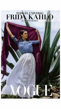Frida Kahlo seated next to an agave plant Vogue 1937 Toni Frissell Vogue 1937 Toni Frissell