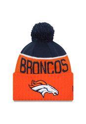 New Era Denver Broncos Navy Blue Official Sport Knit Hat