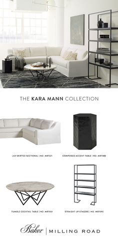 Contemporary and contrasted living room: The Kara Mann Collection for Baker | Milling Road