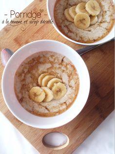 Porridge à la banane et sirop d'érable