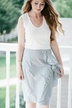 8945c4ae6bb Ruffle Striped Pencil Skirt   J.Crew   Spring and Summer Style   Fashion