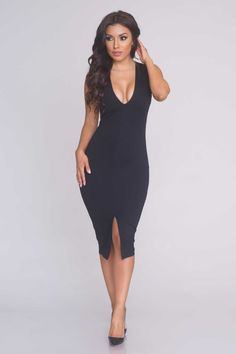 9bce7841102 Privileged Backless Midi Dress - Black - Dresses - Clothing