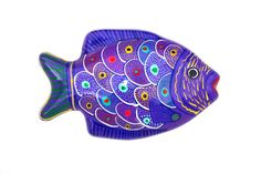Mexican Hand Painted Wall Hanging Fish / Mexican by Globalfindings