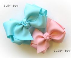 How To Make 2-Tone 2-Layer Boutique Hairbow/Hair Bow Instruction - Cuteness!