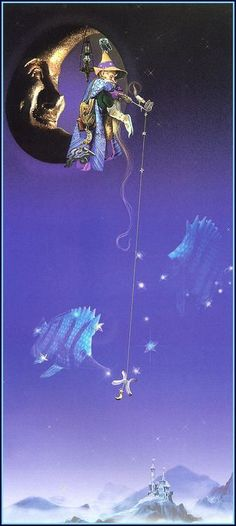 smiling at the moon,sitting on the tip..fishing for a star