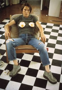 Sarah LucasSelf Portrait with Fried Eggs 1996