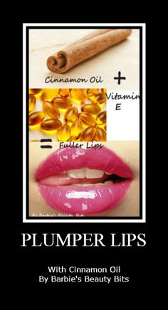 "Craft your own at home ""Lip Plumper"" with a DIY cinnamon formula, by Barbies Beauty Bits"