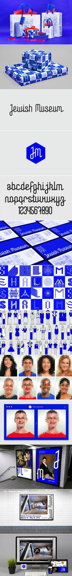 Jewish Museum by Sagmeister & Walsh. Sistema muy interesante desde el lenguaje que plantea y su apertura a lo largo del sistema. También es interesante la modulación del espacio que ofrecen los elementos que componen al sistema. Cromáticamente resulta cerrado.