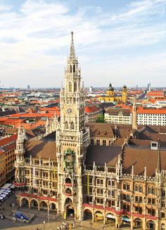 Marienplatz - Munich, Germany  I loved Munich.  It was such a lively city, and the people were all so friendly!   I would go back in a heartbeat.