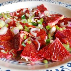 Sicilian Orange Salad is an authentic Italian dish  that's typical on cold seasons and blood oranges are in season.