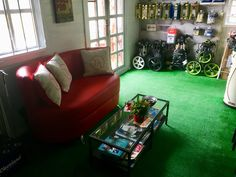 Olympic Golf, Sofa, Couch, Golf Clubs, Furniture, Home Decor, Settee, Settee, Decoration Home