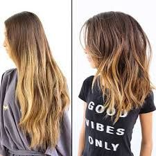 Image result for lob hair ombre
