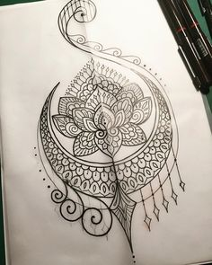 """For Kiely #tattoo #tattooart #tattoodesign #design #drawing #art #sketch #penandink #handdrawn #mehndi #mandala #iblackwork #domholmestattoo…"""