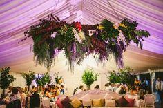 Lush hanging floral installation   Image by Natasja Kremers Photography