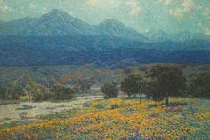 """""""Granville Redmond, from 1926. California Poppy Field. It was so big that if you stood close you could see the dots it was made of, you could lose yourself in pure color, but standing back a little you felt like you were in the field of orange poppies, like you could sit under an oak tree if you wanted to, lay back and watch the clouds move across the far peaks."""""""