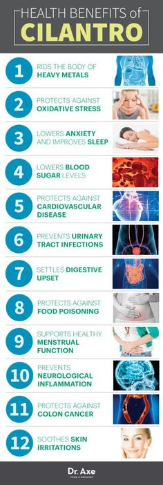Cilantro Health Benefits Infographic http://www.ebay.com/itm/Omus-white-powder-gold-MONATOMIC-GOLD-30-Count-/221917739670?