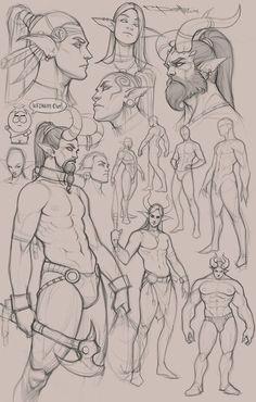sketches, Boris Dyatlov on ArtStation at https://www.artstation.com/artwork/W3YGX