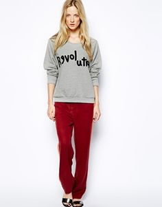 Image 4 ofSelected Lovely Sweatshirt with Revolution Logo