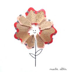 Pencil shavings artwork - Marta Altes - Artsy - flower