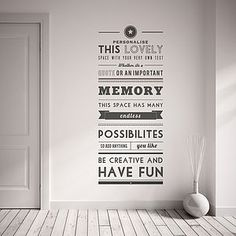 Personalised Quote Wall Sticker
