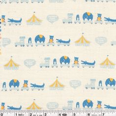 Sweet little animals are gathering on the circus train in this sweet print. I must have this gauze fabric.