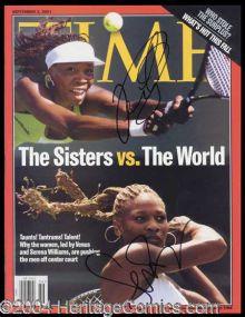 a61f1f55d74f Serena   Venus Williams Signed Magazine Autographs